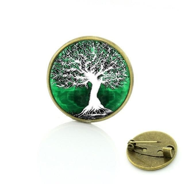 Brooches c154 TAFREE New 2017 Vintage Tree of Life brooch Jewelry Wholesale Glass cabochon dome life tree pins New Year Christmas gift C205|tree pin|wholesale pinspin trees Ancient Treasures Ancientreasures Viking Odin Thor Mjolnir Celtic Ancient Egypt Norse Norse Mythology
