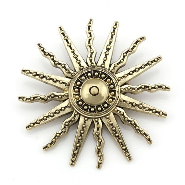 Brooches Factory Direct Sale Vintage Style Sun Brooch Pins for Men or Women in Antique Brass Color Plated|pins for men|brooch pin for menbrooch pins Ancient Treasures Ancientreasures Viking Odin Thor Mjolnir Celtic Ancient Egypt Norse Norse Mythology