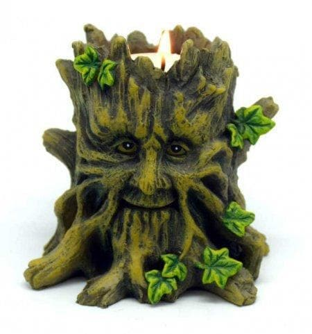 Celtic Greenman Tea Light Candle Holder