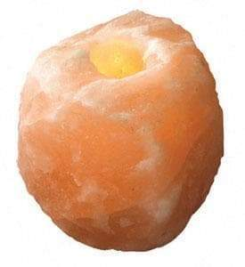 Wiccan Himalayan Salt Rock Tea Light Candle Holder