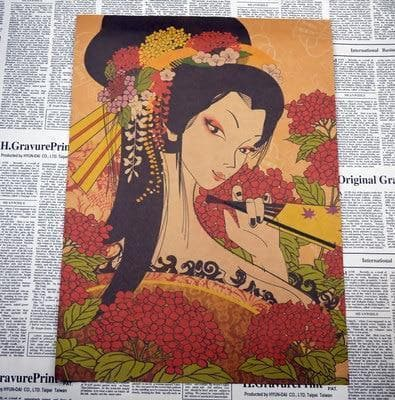 Canvas Wall Art 2 Clear Ancient Japanese Painting Wall Art