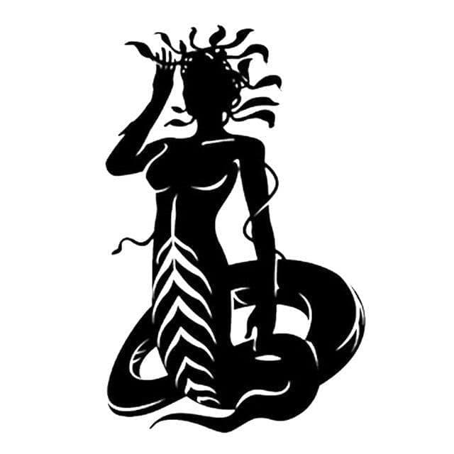 Car Stickers Black 12.6cm*19.7cm Sexy Snake Woman Medusa Vinyl Decals Car Sticker Black/Silver S6 3130|car sticker|stickers blackcar decal sticker Ancient Treasures Ancientreasures Viking Odin Thor Mjolnir Celtic Ancient Egypt Norse Norse Mythology