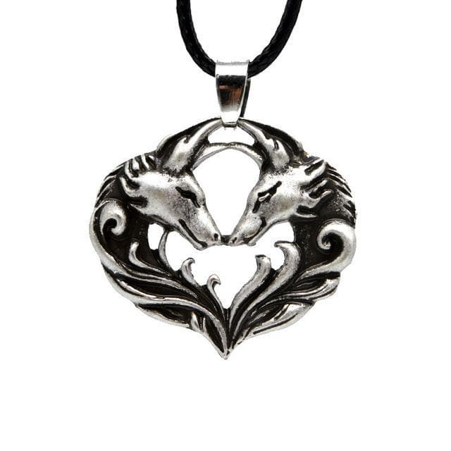 Celtic Wolf Pack Love Pendant Necklace