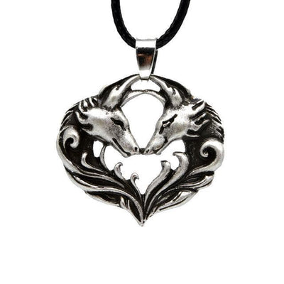 Celtic Antique Silver Celtic Wolf Pack Love Pendant Necklace Ancient Treasures Ancientreasures Viking Odin Thor Mjolnir Celtic Ancient Egypt Norse Norse Mythology