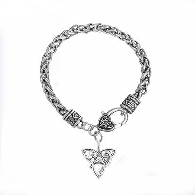 Celtic Cat Lying on Triquetra Stainless Steel Chain Bracelet Ancient Treasures Ancientreasures Viking Odin Thor Mjolnir Celtic Ancient Egypt Norse Norse Mythology