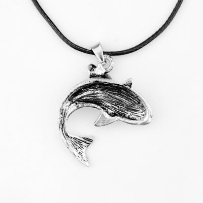 Celtic Dolphin with Triquetra Pendant Necklace