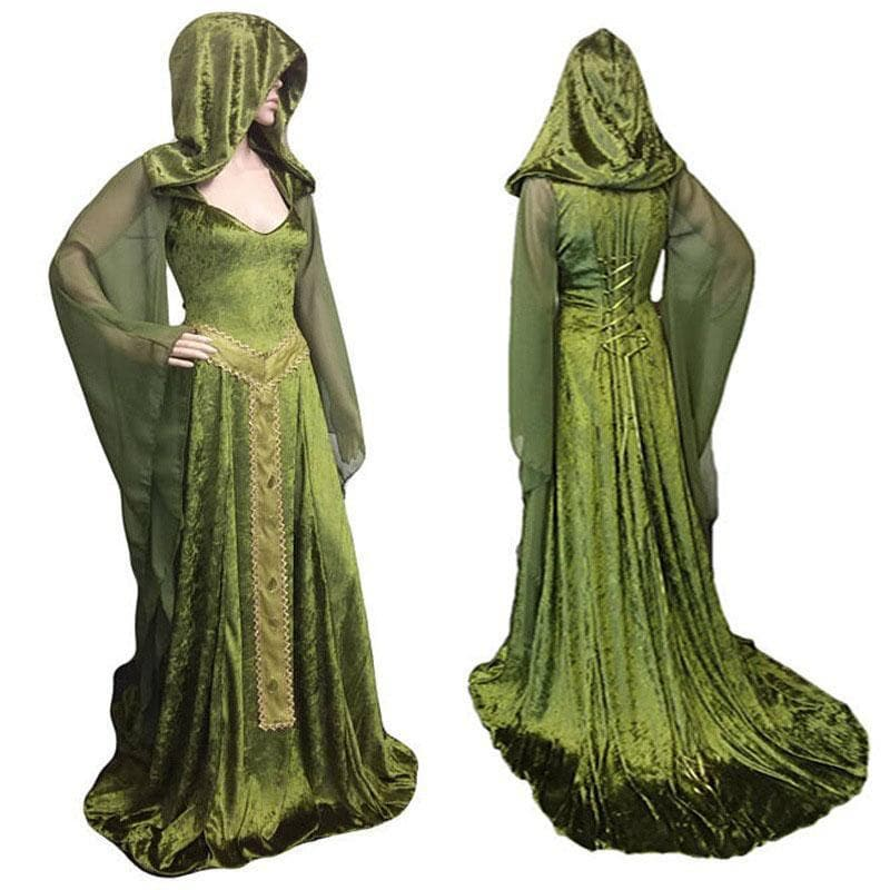 Celtic Hooded Maxi Dress