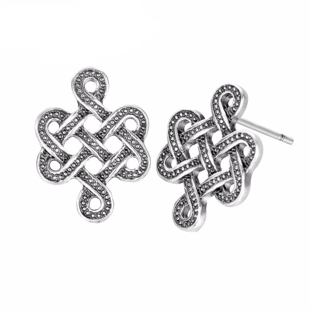Celtic Celtic Irish Silver Knot Earring