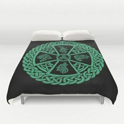 Celtic Celtic Nature Comforter Blanket Ancient Treasures Ancientreasures Viking Odin Thor Mjolnir Celtic Ancient Egypt Norse Norse Mythology