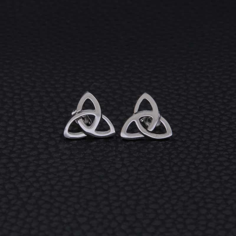 Celtic Celtic Stainless Steel Knot Stud Earrings
