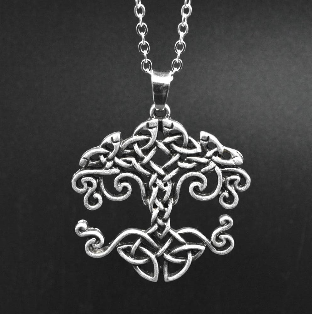 Celtic Celtic Tree of Life Silver Necklace