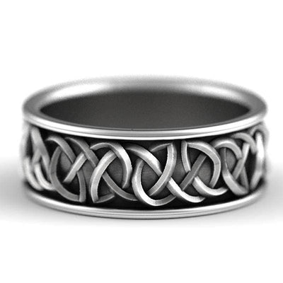 Celtic Celtic Wolf Silver Ring