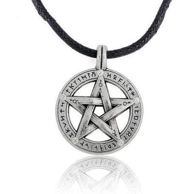 Celtic Cord-Antique Silver / China Celtic Supernatural Pentagram Necklace