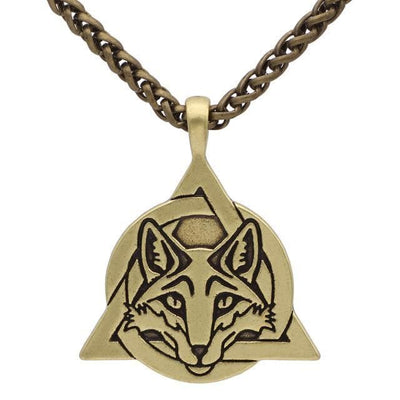 Celtic Gold Plated, Metal Chain Slavic Fox Trinity Necklace Ancient Treasures Ancientreasures Viking Odin Thor Mjolnir Celtic Ancient Egypt Norse Norse Mythology
