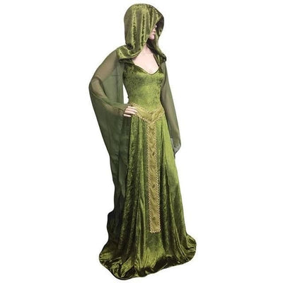 Celtic Green / Small Celtic Hooded Maxi Dress
