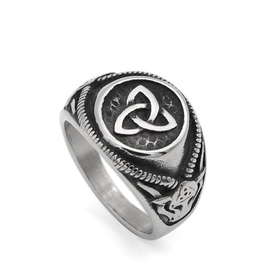 Celtic Handmade Triquetra Stainless Steel Ring Ancient Treasures Ancientreasures Viking Odin Thor Mjolnir Celtic Ancient Egypt Norse Norse Mythology