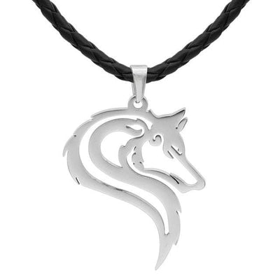 Celtic Leather Cord Noble Celtic Wolf  Pendant Necklace Ancient Treasures Ancientreasures Viking Odin Thor Mjolnir Celtic Ancient Egypt Norse Norse Mythology