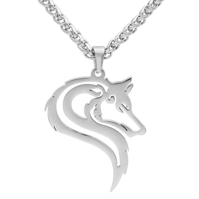 Noble Celtic Wolf  Pendant Necklace