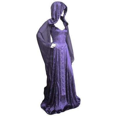 Celtic Purple / Small Celtic Hooded Maxi Dress