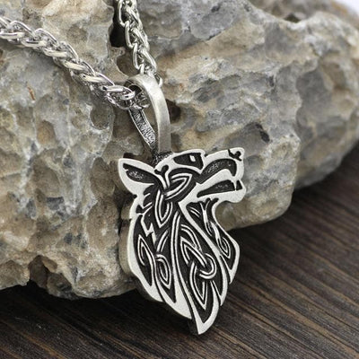 Celtic Silver Plated, Metal Chain Mythological Wolf Pendant Necklace Ancient Treasures Ancientreasures Viking Odin Thor Mjolnir Celtic Ancient Egypt Norse Norse Mythology