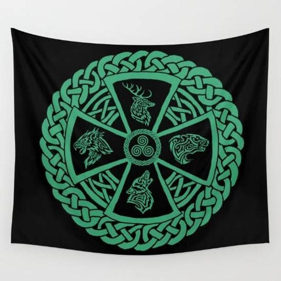 Celtic Small Celtic Nature Tapestry