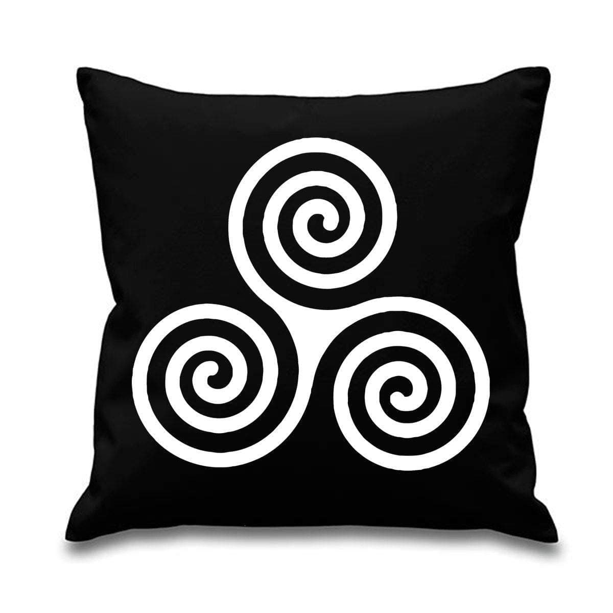 "Celtic Spiral 18"" x 18"" Sofa Throw Cushion Ancient Treasures Ancientreasures Viking Odin Thor Mjolnir Celtic Ancient Egypt Norse Norse Mythology"