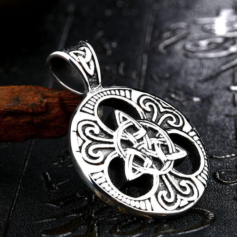 Stainless Steel Metal Chain with Triquetra Pendant