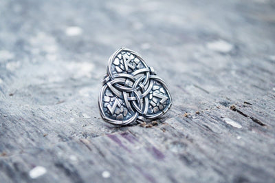 Celtic Sterling Silver Pendant with Triquetra and Runes Symbols Ancient Treasures Ancientreasures Viking Odin Thor Mjolnir Celtic Ancient Egypt Norse Norse Mythology