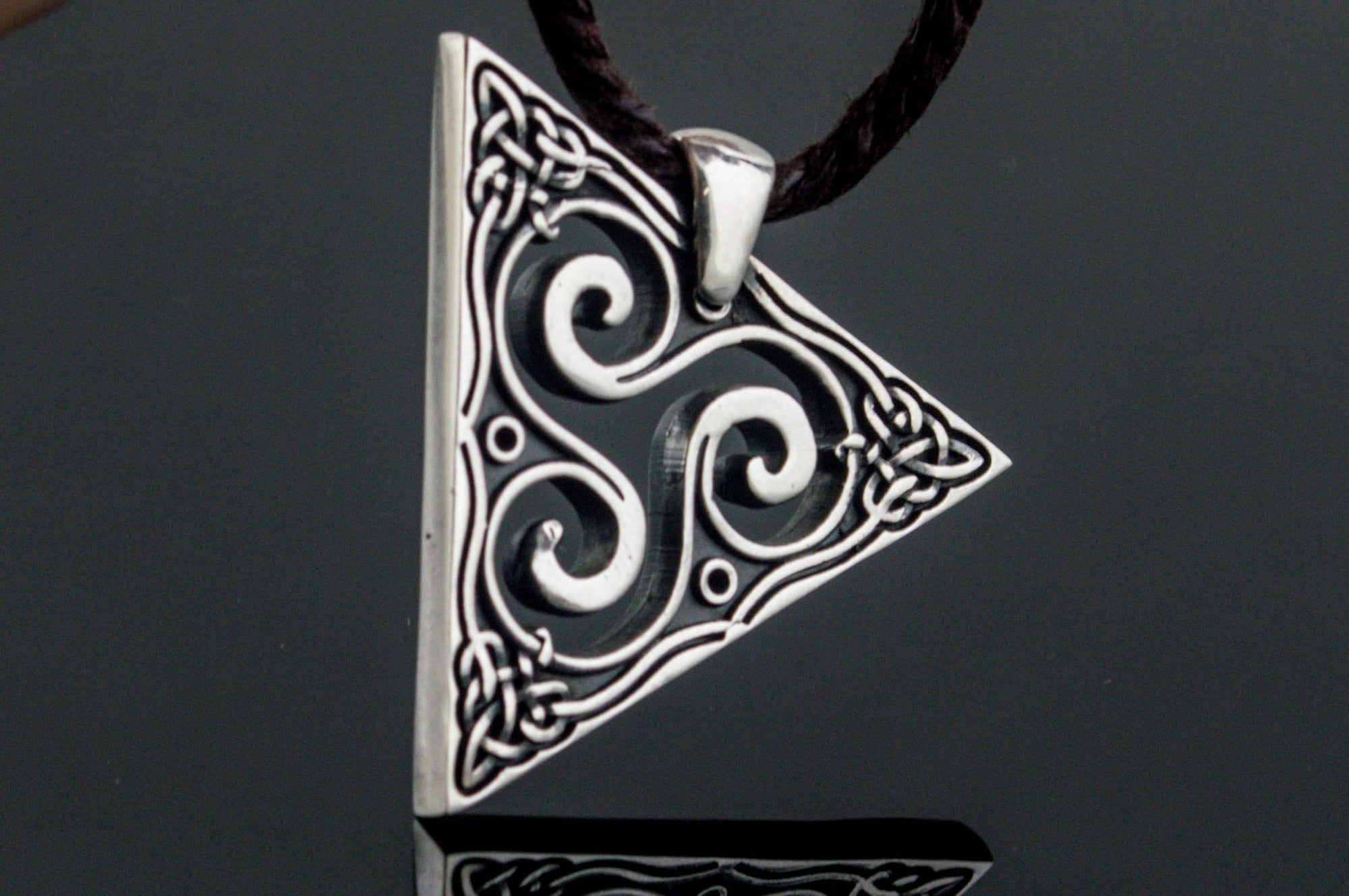 Celtic Sterling Silver Pendant with Triskele Symbol Ancient Treasures Ancientreasures Viking Odin Thor Mjolnir Celtic Ancient Egypt Norse Norse Mythology