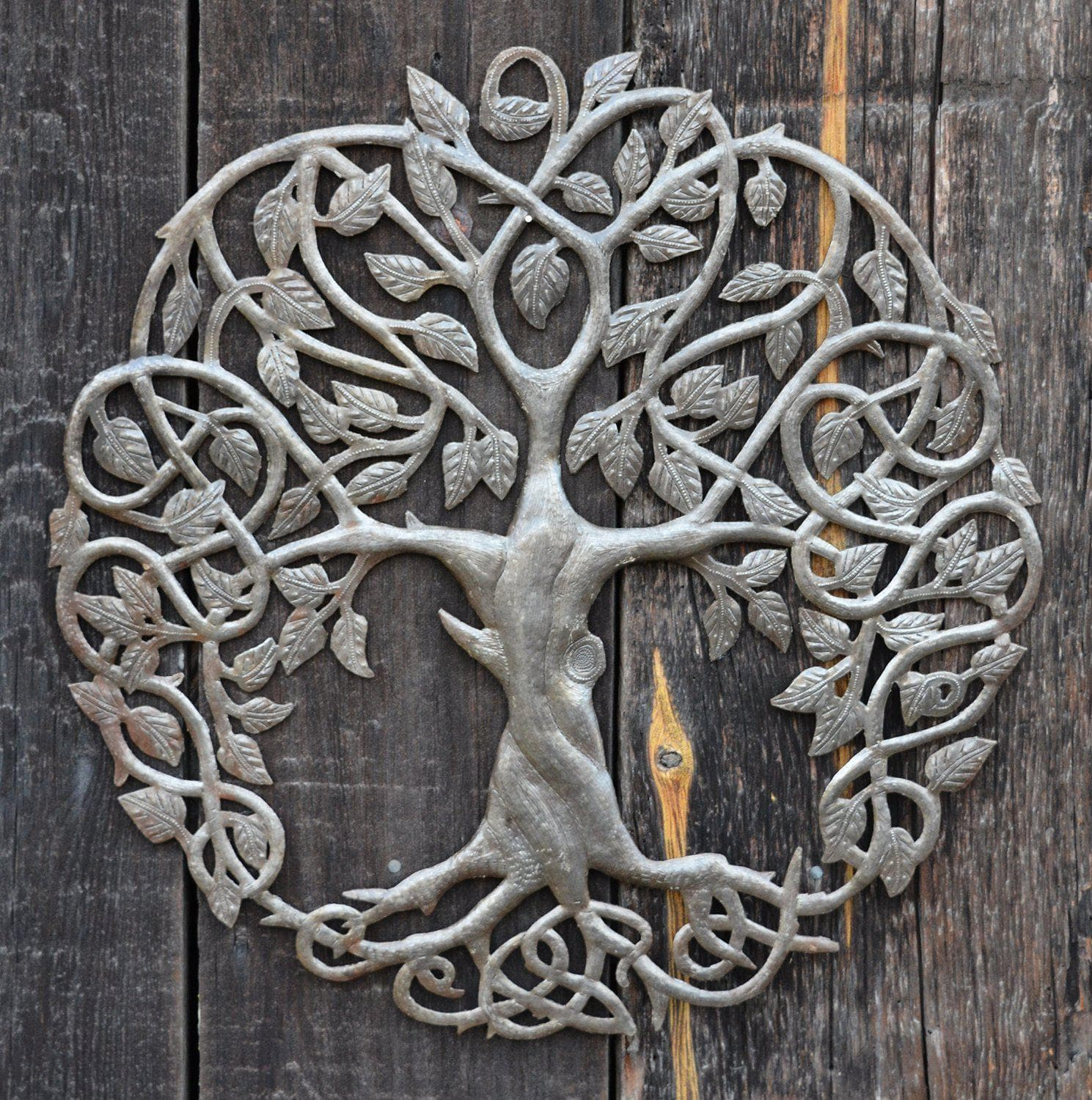 Celtic Tree of Life Handmade Metal Wall Art Ancient Treasures Ancientreasures Viking Odin Thor Mjolnir Celtic Ancient Egypt Norse Norse Mythology