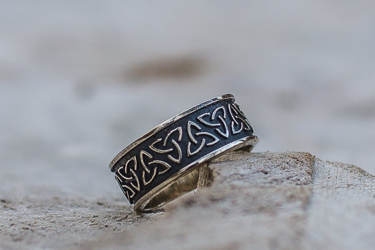 Viking Celtic Triquetra Handcrafted Ring
