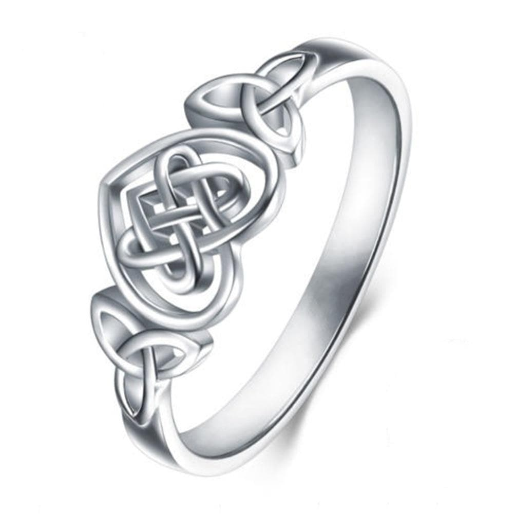 Celtic US 6 / Silver Celtic Knot Heart Ring