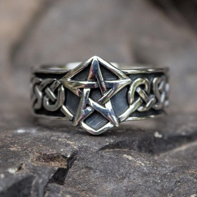 Celtic US 7 Celtic Knot Pentagram Ring