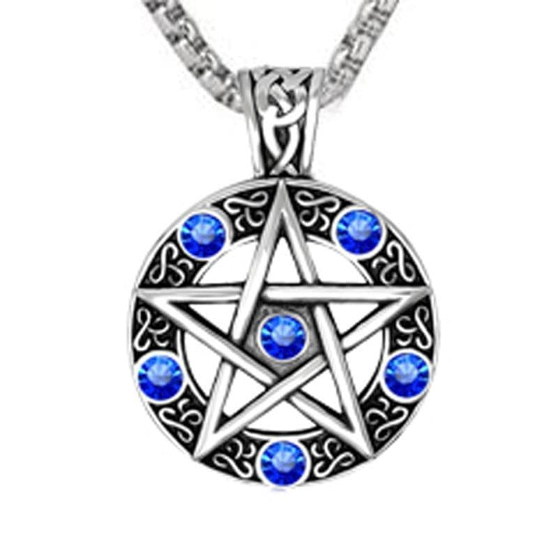 Celtic Wiccan Pentacle Pendant Necklace