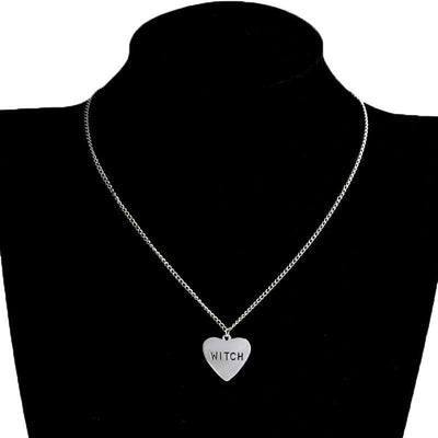 Celtic Wiccan Witch Heart Necklace