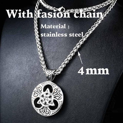 Celtic with fashion chain / 55cm Stainless Steel Metal Chain with Triquetra Pendant Ancient Treasures Ancientreasures Viking Odin Thor Mjolnir Celtic Ancient Egypt Norse Norse Mythology