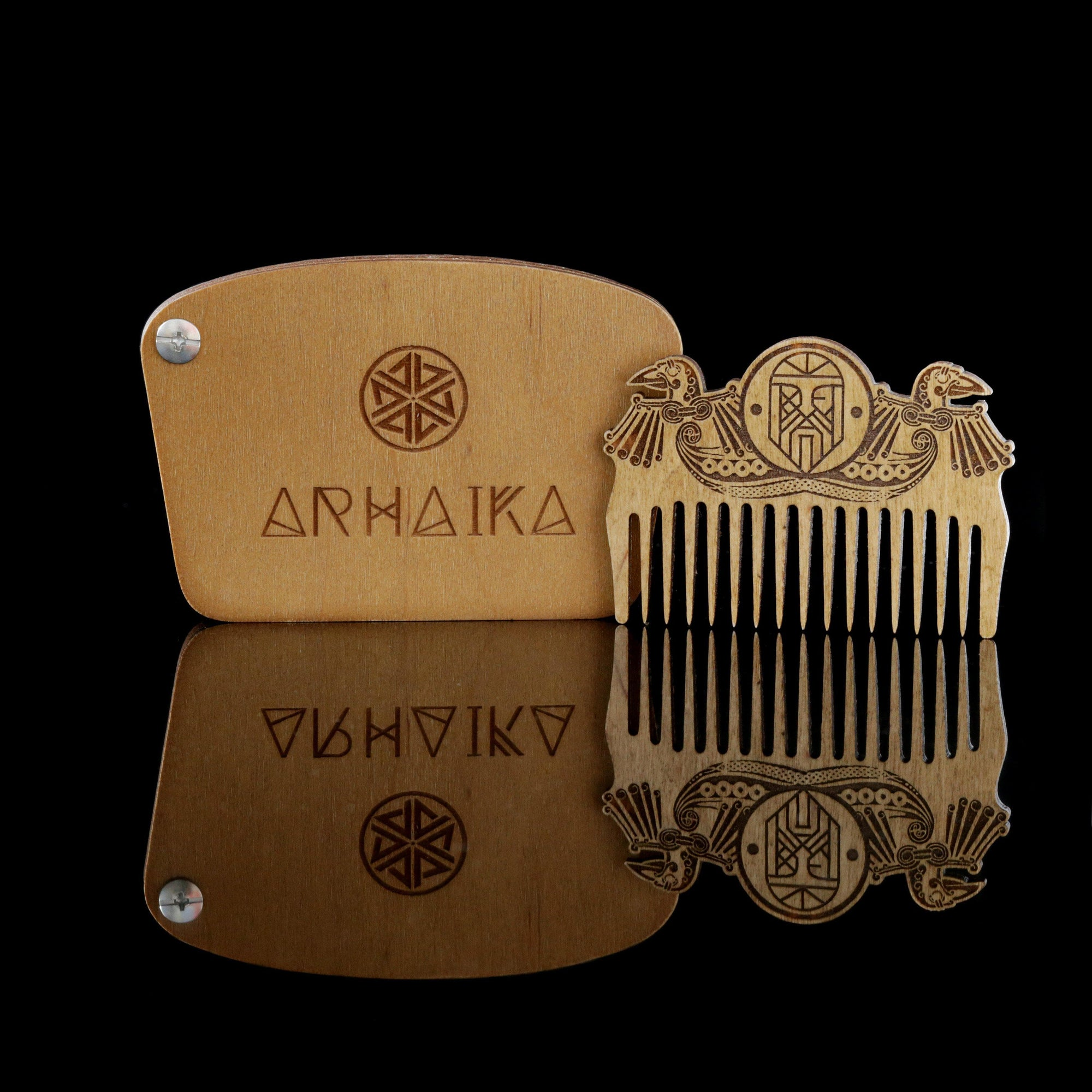 Comb Viking Odin & Ravens Wooden Beard Pocket Comb Ancient Treasures Ancientreasures Viking Odin Thor Mjolnir Celtic Ancient Egypt Norse Norse Mythology