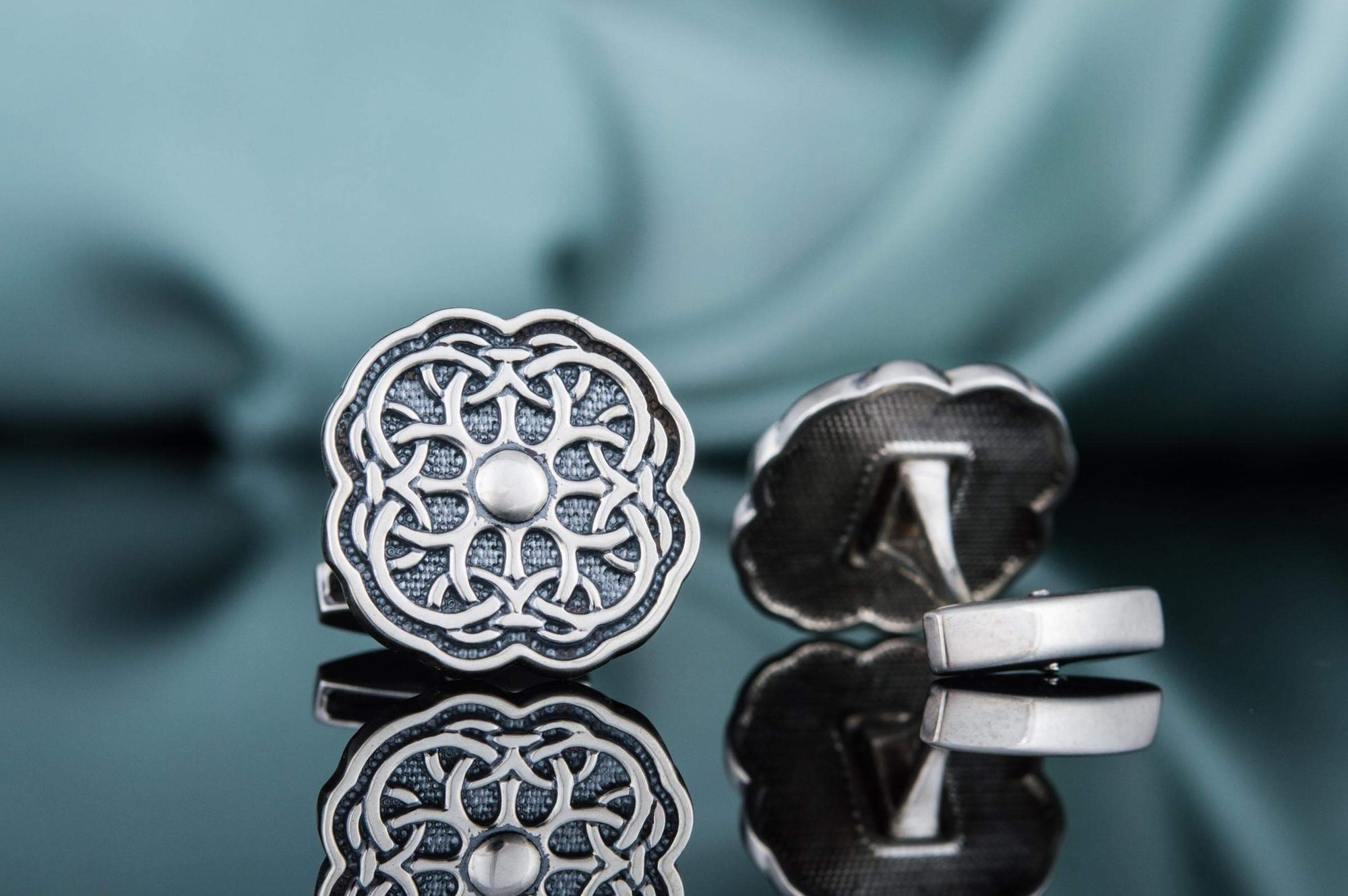 Cufflinks Celtic Knot Ornament Sterling Silver Handmade Cufflinks Ancient Treasures Ancientreasures Viking Odin Thor Mjolnir Celtic Ancient Egypt Norse Norse Mythology