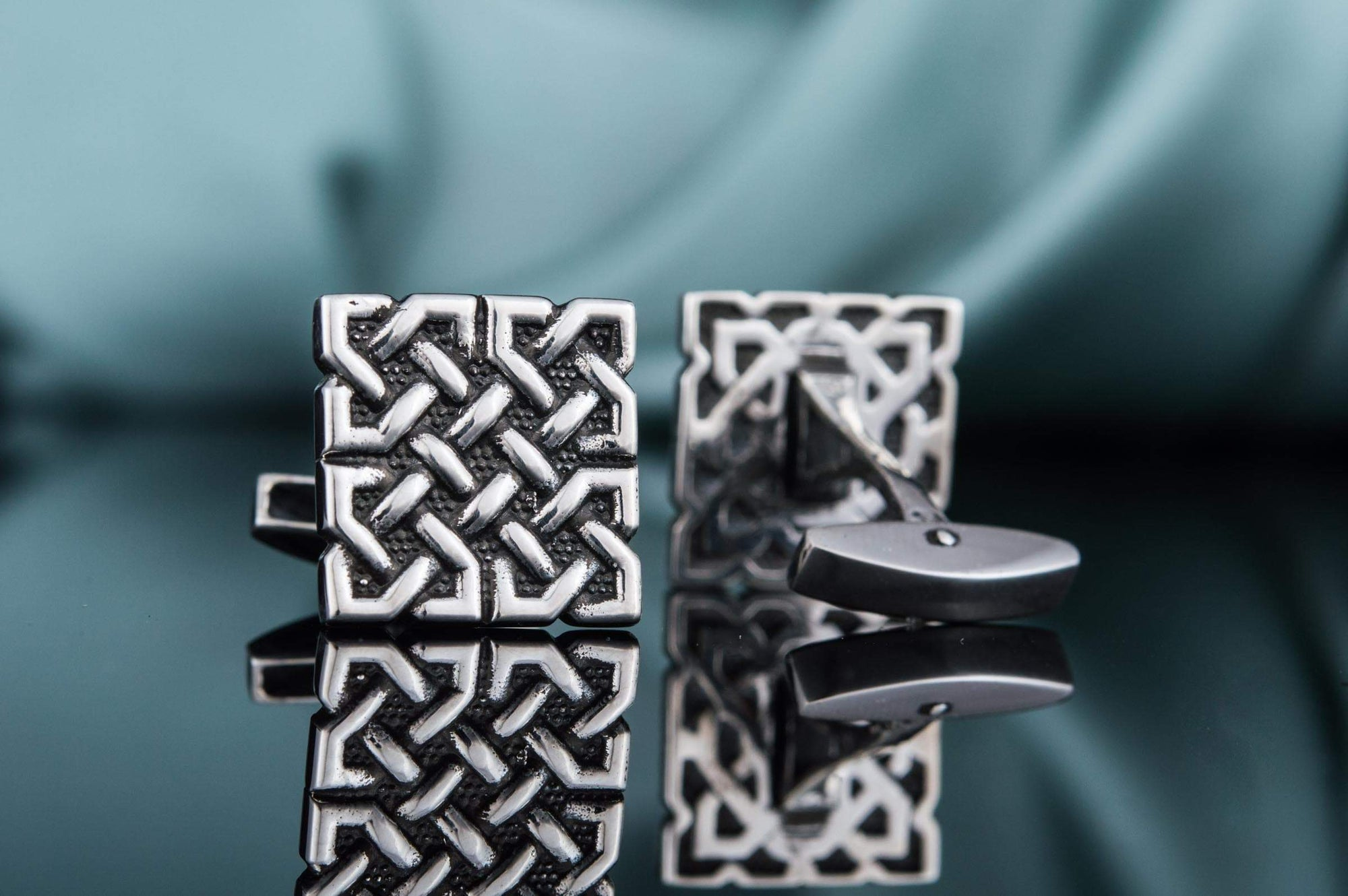 Cufflinks Celtic Square Knot Sterling Silver Handmade Cufflinks Ancient Treasures Ancientreasures Viking Odin Thor Mjolnir Celtic Ancient Egypt Norse Norse Mythology