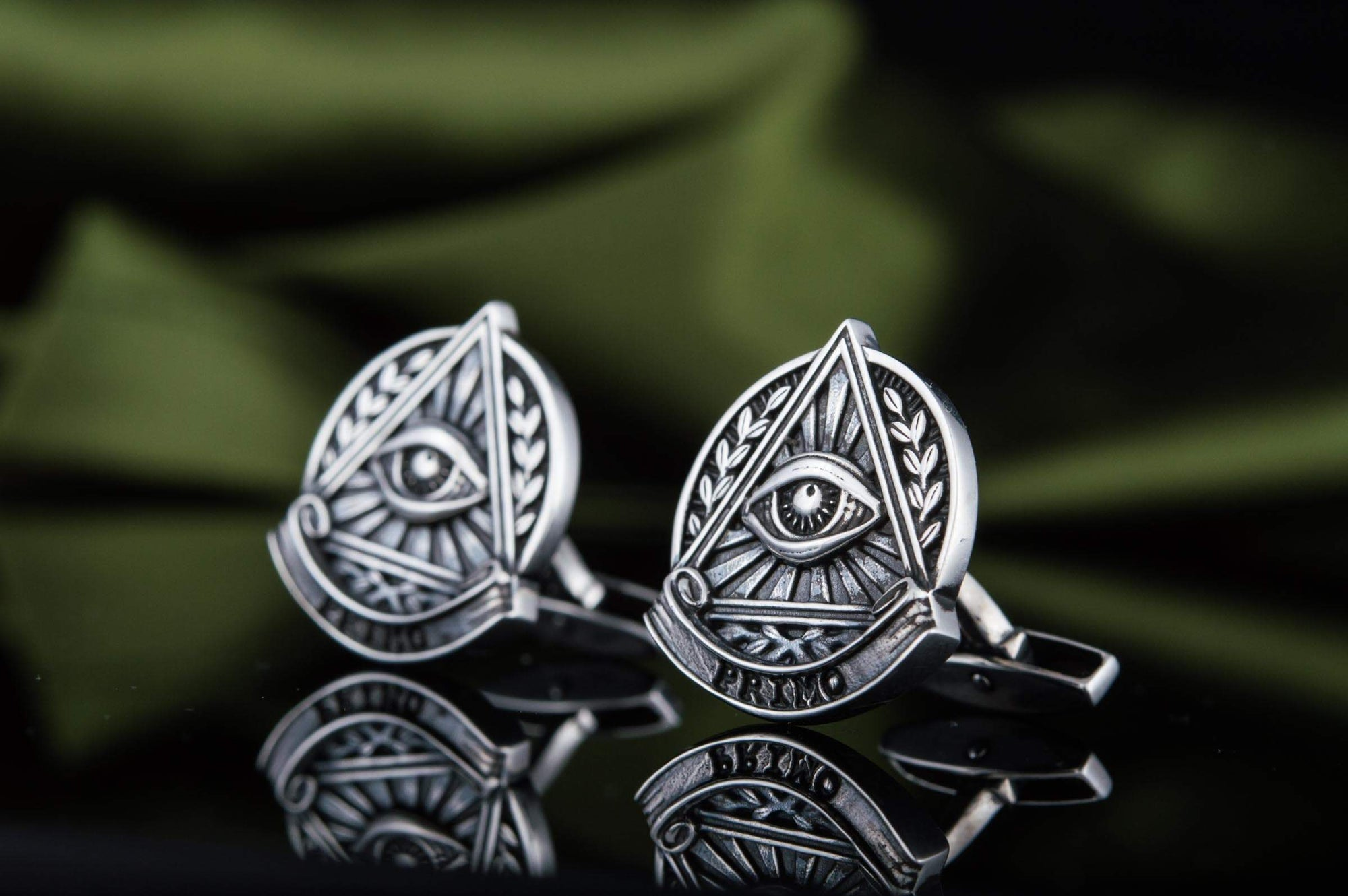 Cufflinks Freemason Eye of Providence Sterling Silver Handmade Cufflinks Ancient Treasures Ancientreasures Viking Odin Thor Mjolnir Celtic Ancient Egypt Norse Norse Mythology