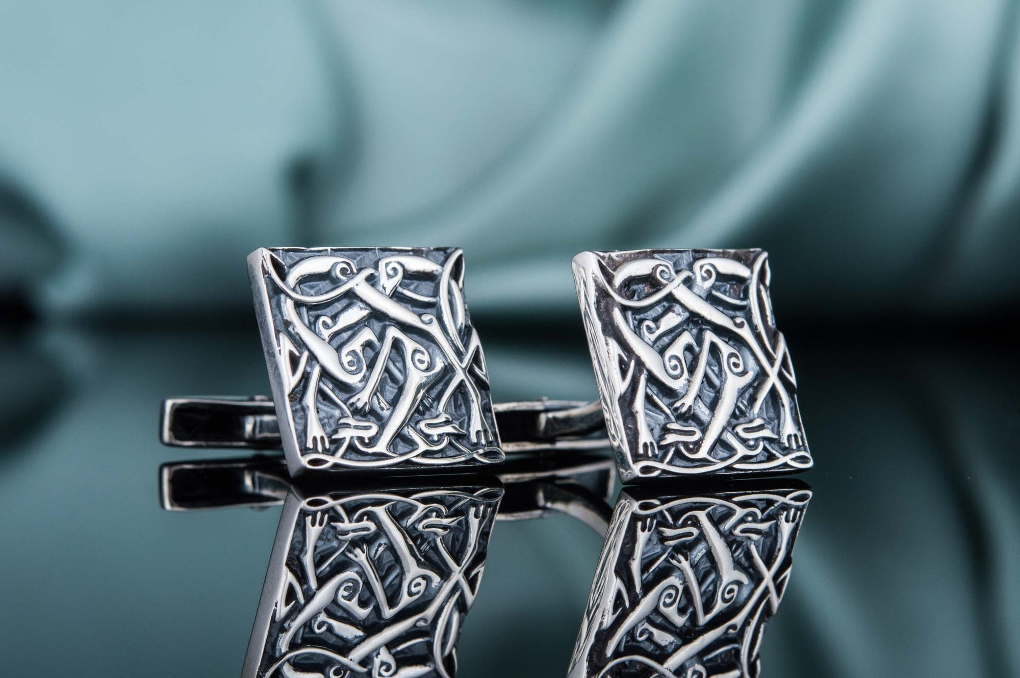 Cufflinks Viking Beasts Urnes Style Art Sterling Silver Handmade Cufflinks Ancient Treasures Ancientreasures Viking Odin Thor Mjolnir Celtic Ancient Egypt Norse Norse Mythology