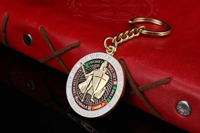 Default Title Knights Templar Put On The Whole Armor Of God Keyring Key chain Pin