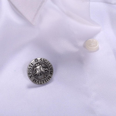 Default Title Knights Templar Seal Crusaders Solomons Temple Lapel Pin