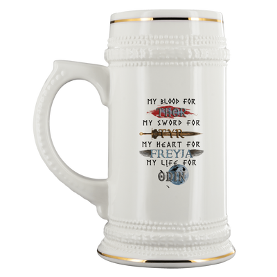 Drinkware Hail the Gods Hail to the Norse Gods Beer Stein