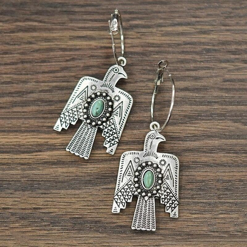 Drop Earrings earrings Retro Indian Tribe Eagle Drop Earrings Gypsy Ethnic Statement Drop Earrings For Women Punk Gothic Party Fashion Jewelry G4M617|Drop Earrings| Ancient Treasures Ancientreasures Viking Odin Thor Mjolnir Celtic Ancient Egypt Norse Norse Mythology
