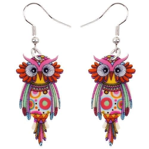 Drop Earrings Multicolor / China Bonsny Animal Acrylic Stud Dangle Drop Owl Birds Big Long Earrings News Fashion Jewelry For Girls Women Teens KIDS Anime Gift|fashion long earrings|long drop earringslong earrings Ancient Treasures Ancientreasures Viking Odin Thor Mjolnir Celtic Ancient Egypt Norse Norse Mythology