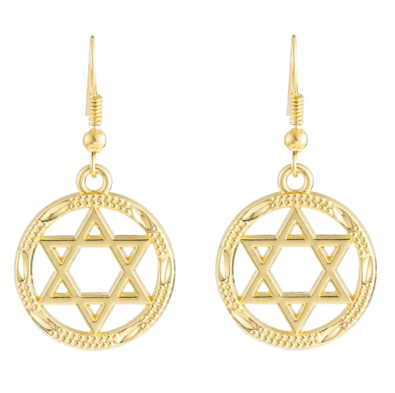 Drop Earrings My Shape Round Hollow Star Of David Dangle Earrings Vintage Religious Jewish Golden Wiccan Lagre Earrings Women's Jewelry Alloy|Drop Earrings| Ancient Treasures Ancientreasures Viking Odin Thor Mjolnir Celtic Ancient Egypt Norse Norse Mythology