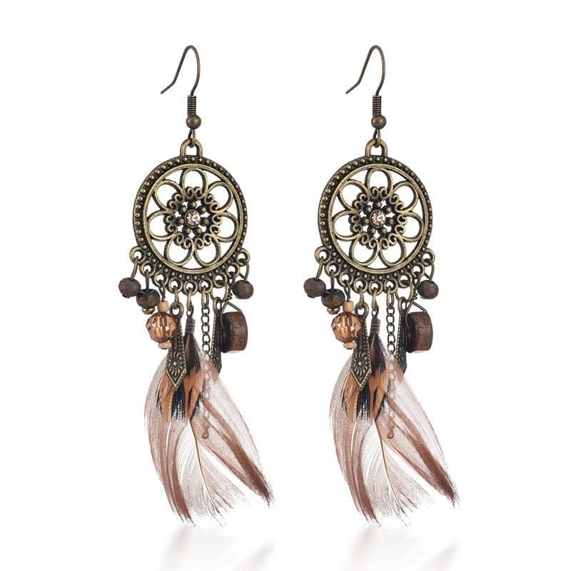 Drop Earrings Native American Dreamcatcher Drop Earrings Ancient Treasures Ancientreasures Viking Odin Thor Mjolnir Celtic Ancient Egypt Norse Norse Mythology