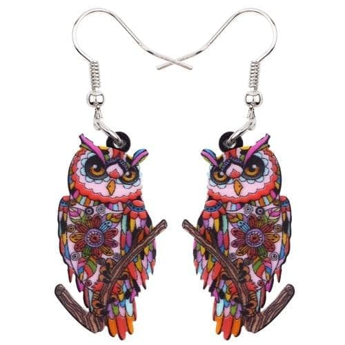 Drop Earrings Red Bonsny Big Acrylic Stud Drop Dangle Owl Bird Long Earrings 2017 New Fashion Animal Jewelry For Women Girls Bijoux Accessories|fashion long earrings|long drop earringslong earrings Ancient Treasures Ancientreasures Viking Odin Thor Mjolnir Celtic Ancient Egypt Norse Norse Mythology