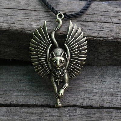 Egypt Bronze Bastet goddess of Cats Ancient Egyptian Pendant Necklace Ancient Treasures Ancientreasures Viking Odin Thor Mjolnir Celtic Ancient Egypt Norse Norse Mythology
